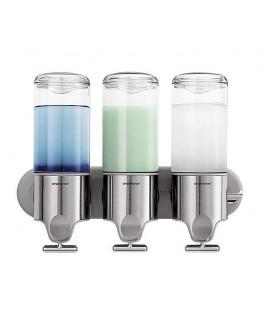 Triple Soap Pump Shower Dispenser