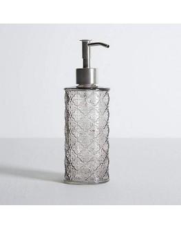Embossed Glass Gray Lotion Dispenser