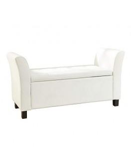 Verona Faux Leather Window Seat-White
