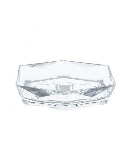 Hexagonal Transparent Soap Dish