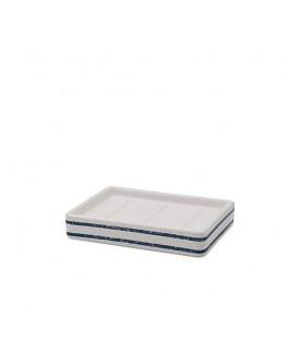 Nautical Stripes Ceramic Soap Dish